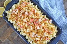 Sweet lobster, creamy cheese & a crunchy panko topping come together to make the BEST Lobster Mac and Cheese recipe! Perfect for any elegant or casual meal! #lobstermacandcheese #easylobstermacandcheese #homemademacandcheese www.savoryexperiments.com Lobster Mac N Cheese Recipe, Bacon Mac And Cheese, Best Mac And Cheese, Mac And Cheese Homemade, Baked Mac, Creamy Cheese, Cheese Recipes, How To Cook Pasta, Casserole Dishes