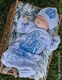 Blue Royalty Baby Boy Take Home Outfits