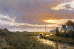 """William P. Duffy  ~  """"The Creek at Sunset"""""""
