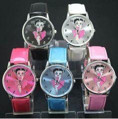 NEW!> COLLECTIBLE BETTY BOOP WATCHES>CHOOSE COLORS & STYLES>BIKER BOOP TOO!!!  $13.00  FREE SHIPPING AND FREE GIFT!
