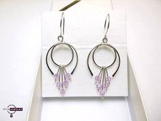 Earrings with swarovski crystals.