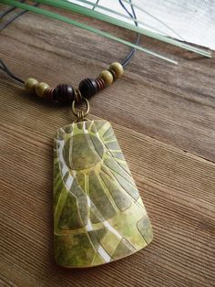 Polymer Clay Pendant featuring Tropical by WiredOrchidJewelry