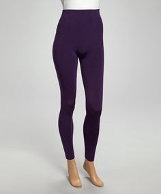 Look what I found on #zulily! Dark Purple Faux Fur-Lined Leggings by 24|7 Frenzy #zulilyfinds