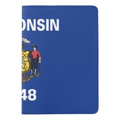 Wisconsin flag, American state flag Passport Holder