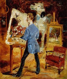 Princeteau in His Studio - 1881 - PC. Henri de Toulouse-Lautrec.