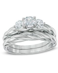 Past Present Future Engagement Ring