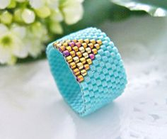 Vintage bead ring