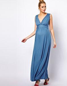 Bild 4 von ASOS MATERNITY – Exklusives, drapiertes Maxikleid aus Jersey im griechischen Stil