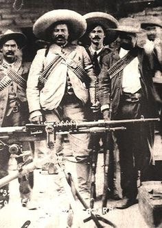 The revolutionary leader and bandit Pancho Villa. Villa began as a commander in the Maderista forces, but became disillusioned with the weak government that succeeded Díaz, and was equally displeased. Pancho Villa, Mexican Men, Mexican American, Mexican Revolution, Latina, Aztec Culture, Mexican Heritage, Chicano, Mexicans
