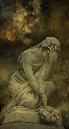 (via Angel Monuments)  To me, this image represents the grieving women who wept at Yeshua's tomb.
