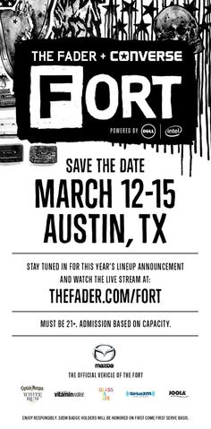 RSVP For Fader Fort 2014 Presented By Converse At SXSW