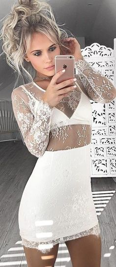 White Lace Dress                                                                             Source