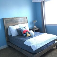Look how amazing our customers are!! They BUILT this bed using the plans from @shanty2chic ❤️ AMAZING!...and of course the perfect bed for our bedding!
