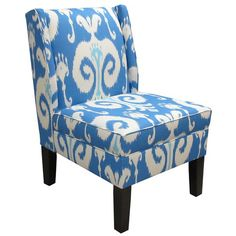 I pinned this Ikat Wingback Chair at Joss & Main! Classic blue & white will always be my favorite color combo--add in bright key lime green or bright pink & I will be especially happy! :)