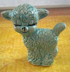 Vintage little porcelain blue sheep by VeneciaArt on Etsy,