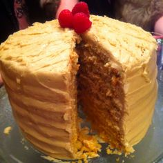 For our Oscar party - the famous seven layer caramel cake! i like to take pictures of my food
