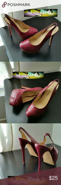 JUST FAB .......GORGEOUS FUSHIA....HEELS ...ADDING INFO SOON...EXCELLENT CONDITION. ...NWOT.....BRAND NEW.. JustFab Shoes