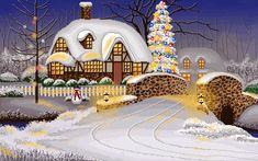 House Village People Church Merry Christmas animations animation animated gif gifs photo by prestonjjrtr