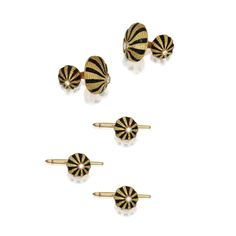 18 Karat Gold, Diamond and Enamel Dress Set, Schlumberger for Tiffany & Co. | Lot | Sotheby's