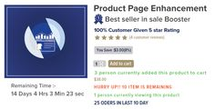 #Woocommerce #Sale Booster - #Product Page #Enhancement provides the Sales #Countdown to #promote your sales #campaigns in WooCommerce. It shows a countdown box with the product on sale, to tell your customer how much time they have left to purchase your product with a discount.