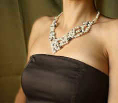 Igaz szerelem nyaklánc - egyedi gyöngy nyakék