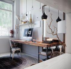 Room Decor Diy Desk Bureaus 37 New Ideas Home Office Setup, Home Office Space, Home Office Design, House Design, Office Ideas, Workspace Inspiration, Design Inspiration, Design Ideas, Pinterest Home