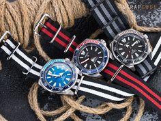 NYJBB Nato strap on Seiko Samurai watches Seiko Samurai, Seiko Diver, Seiko 5 Automatic, Seiko Men, Nato Strap, Seiko Watches, Luxury Watches For Men, Black Canvas, Vintage Watches