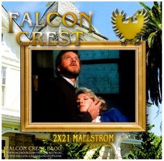 Falcon Crest Scene of the Week! Chase holds Maggie after she was attacked by the Agretti murderer. #falconcrest #soapoperas #80s #tvshows