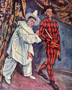 """""""Пьеро и Арлекин"""", Поль Сезанн, 1888"""