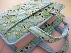 Bible Cover w Handles (Dandelion Field in Mist) Quilting Projects, Sewing Projects, Sewing Hacks, Bible Bag, Bible Cases, Fabric Book Covers, Diary Covers, Bible School Crafts, Kindle Cover