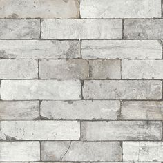 Brick Effect Grey wallpaper by Albany