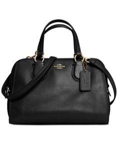 COACH Mini Nolita Satchel In Pebble Leather | macys.com