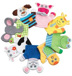 Tiny Tillia Bath Mitt- never a dull moment! Bring Tiny Tillia to life with these soft terry bath mitts – gentle on baby's skin and great fun for the imagination. (Baby talk not included.) Machine washable. Imported. Shop online at tashina.avonrepresentative.com