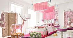 Une très belle chambre de petite fille...