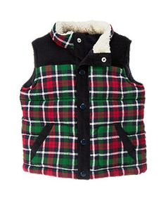 Plaid Flannel Quilted Vest
