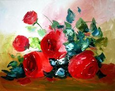 Palette Knife Original Oil Painting on Canvas - Still life by Tetiana | eBay
