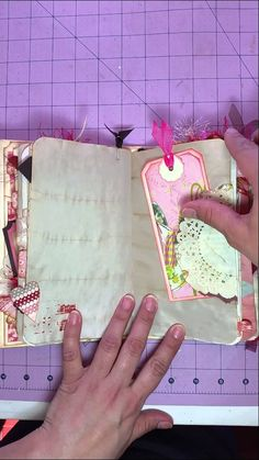 Red and pink journal