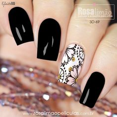 Latest Nail Designs, Fall Nail Art Designs, Solid Color Nails, Nail Colors, Love Nails, Pretty Nails, Nail Art For Girls, Romantic Nails, Daisy Nails