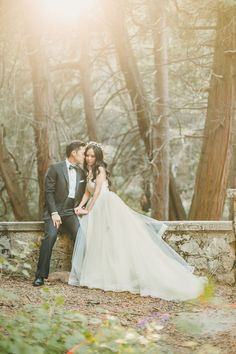 Striking Wedding Portraits in the Woods | Kristen Booth Photography | Enchanting Mountain Bridal Portraits in a Fairy Tale Forest