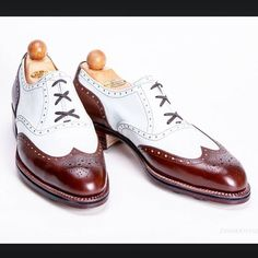 Handmade Leather shoes Men burgundy and white lace up shoes Leather Heel Shoes - Dress/Formal