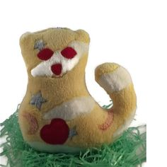 Lovely Cuddly Toy is made from washable terry velvet. The eyes, the heart and nose are made of felt and hand sewn by stitching. The filling is hyp ...