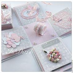 Wedding Cards Handmade, Wedding Gift Boxes, Greeting Cards Handmade, Exploding Gift Box, Diy And Crafts, Paper Crafts, Pop Up Box Cards, Diy Gift Box, Magic Box