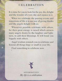 """""""CELEBRATION"""" – Diana Cooper - Angels of Light Cards"""