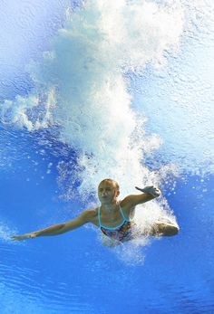 Anna Pysmenska of Ukraine competes in the Women's 3m Springboard Diving preliminary round on day seven of the 15th FINA World Championships at Piscina Municipal de Montjuic on July 26, 2013 in Barcelona, Spain.