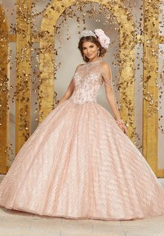 Shop Morilee's Crystal Beaded Lace Appliqués on Tulle Ball Gown Quinceañera Dress. Quinceanera Dresses by Morilee designed by Madeline Gardner. Sweet 15 Dresses, Dressy Dresses, Sweet Dress, Prom Dresses, Wedding Dresses, Dama Dresses, Graduation Dresses, Gown Wedding, Evening Dresses