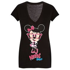 V-Neck Nerds Minnie Mouse Sleep Tee  $28.95