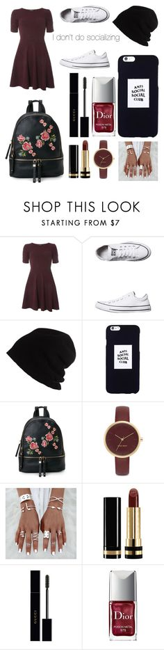 """""""Anti Social"""" by gurrapu-viraja ❤ liked on Polyvore featuring Dorothy Perkins, Converse, SCHA, Anti Social Social Club, Urban Expressions, Nine West, Gucci and Christian Dior"""