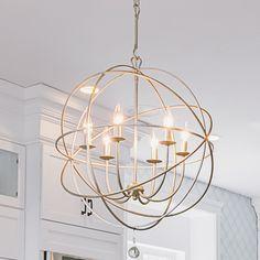 Globe Chandelier, Chandelier Lighting, Dinning Room Chandelier, Chandelier Ideas, Living Room Chandeliers, Stairwell Chandelier, Round Chandelier, Globe Pendant, Lantern Pendant