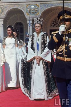 Former empress of Iran Farah Pahlavi on coronation day,   1967. Love her crown