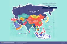 The Literal Translation of Asian Country Names